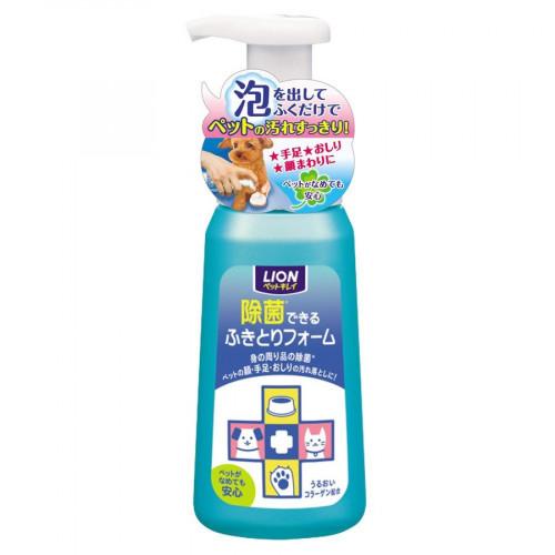 LION 獅王 免沖洗寵物除菌清潔慕斯 250ml 植物性成分