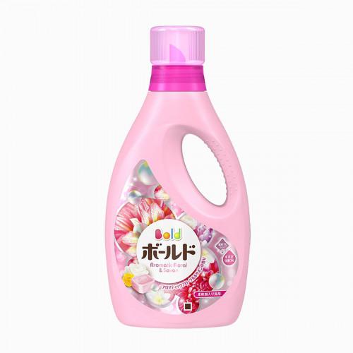 寶潔 BOLD 香氛柔軟洗衣精 850g (陽光花卉皂香) 淡粉色