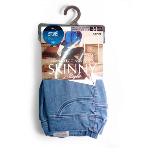 GUNZE TUCHE TZH508 涼感彈性牛仔褲 (9分丈) (82M, Color:781 Blue)