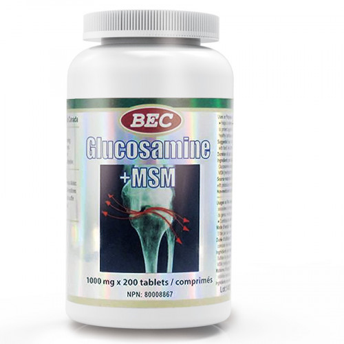 BEC MSM 強力關節靈 Glucosamine Sulfate + MSM 1000mg*200粒